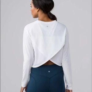 Lululemon Pushing Limits Long Sleeve white 6